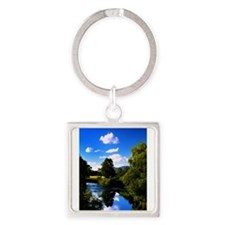 Reflection in the River e2 Keychains
