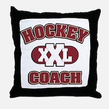 Hockey Coach Throw Pillow