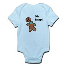 Oh Snap Gingerbread Man 3 Body Suit
