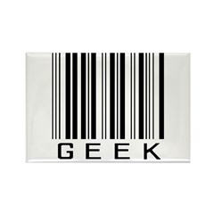 Barcode Geek Rectangle Magnet