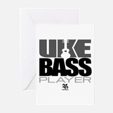 Uke Bass Player Greeting Cards