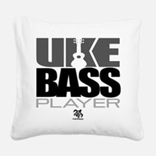 Uke Bass Player Square Canvas Pillow