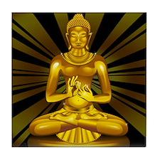 Buddha Siddhartha Gautama Golden Statue Tile Coast