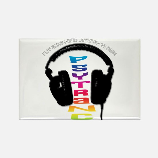 psytrance headphones Rectangle Magnet