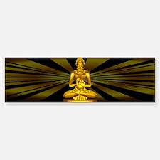 Buddha Siddhartha Gautama Golden Statue Bumper Sti