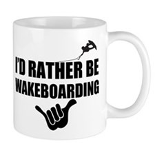 Rather Be Wakeboarding Small Mug