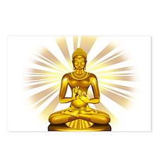 Buddha Siddhartha Gautama Golden Statue Postcards