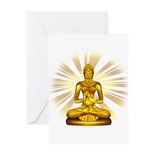 Buddha Siddhartha Gautama Golden Statue Greeting C