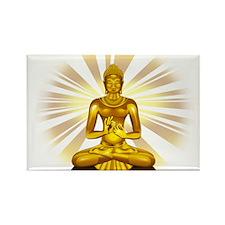 Buddha Siddhartha Gautama Golden Statue Magnets