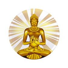 """Buddha Siddhartha Gautama Golden Statue 3.5"""" Butto"""