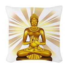 Buddha Siddhartha Gautama Golden Statue Woven Thro