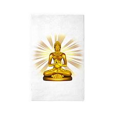 Buddha Siddhartha Gautama Golden Statue 3'x5' Area