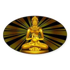 Buddha Siddhartha Gautama Golden Statue Decal