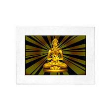 Buddha Siddhartha Gautama Golden Statue 5'x7'Area