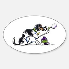 Foxhound Bubbles Sticker (Oval)