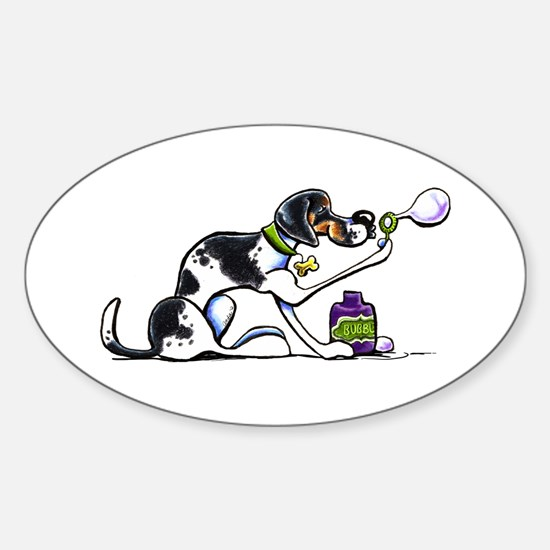 Foxhound Bubbles Sticker (Oval)