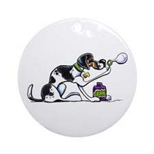 Foxhound Bubbles Ornament (Round)
