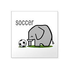 """Soccer Square Sticker 3"""" x 3"""""""