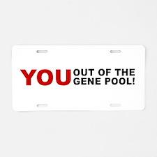 Genepool_Print.Tif Aluminum License Plate