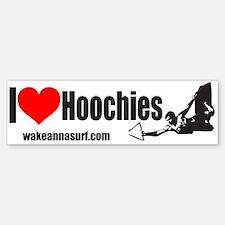 I Heart Hoochies Bumper Bumper Bumper Sticker