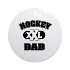 Hockey Dad Ornament (Round)