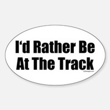 At The Track Oval Decal