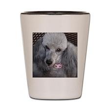 Mercedes Silver Poodle Shot Glass
