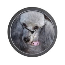 Mercedes Silver Poodle Wall Clock