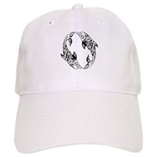 Dolphin Tribal Tattoo Baseball Cap