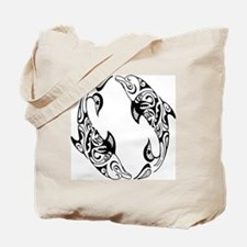 Dolphin Tribal Tattoo Tote Bag
