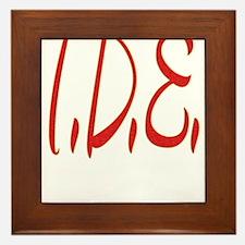 T.D.E. Framed Tile