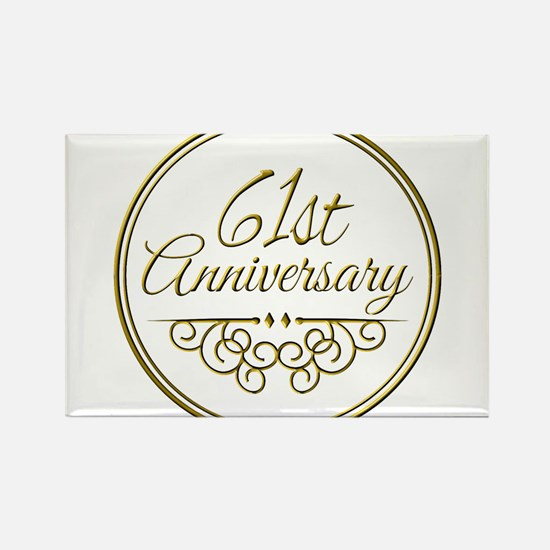 61st Anniversary Magnets