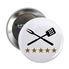 "BBQ barbecue Cutlery 2.25"" Button (10 pack)"