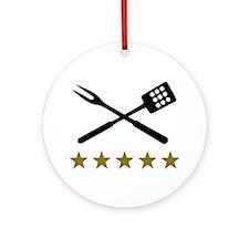 BBQ barbecue Cutlery Ornament (Round)