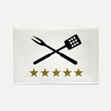 BBQ barbecue Cutlery Rectangle Magnet (10 pack)