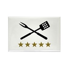 BBQ barbecue Cutlery Rectangle Magnet (100 pack)