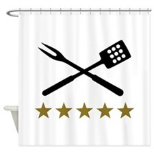 BBQ barbecue Cutlery Shower Curtain