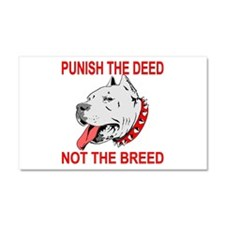 Punish The Deed Car Magnet 20 x 12