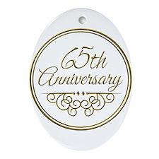 65th Anniversary Ornament (Oval)