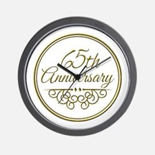 65th Anniversary Wall Clock