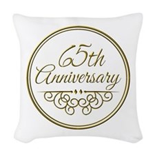 65th Anniversary Woven Throw Pillow