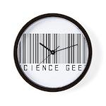 Barcode Science Geek Wall Clock