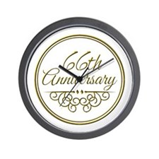 66th Anniversary Wall Clock