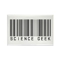 Barcode Science Geek Rectangle Magnet (10 pack)