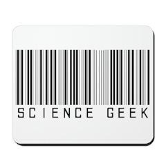 Barcode Science Geek Mousepad