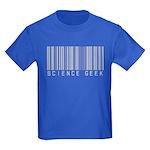 Barcode Science Geek Kids Dark T-Shirt