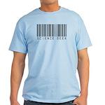 Barcode Science Geek Light T-Shirt