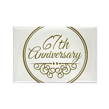 67th Anniversary Magnets