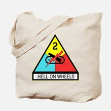 Army Hell On Wheels Tote Bag