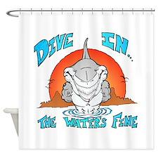 Dive In Shark Shower Curtain